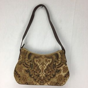 VTG Fossil Carpet Tapestry Purse Handbag 90s